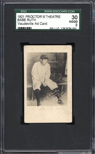 Babe Ruth Card at Proctors