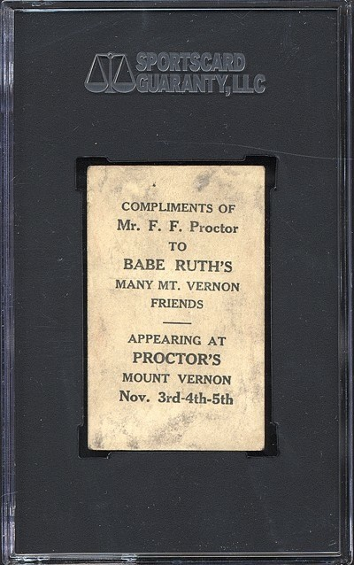 Back of Ruth Card at Proctors