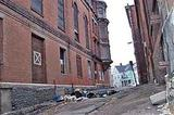 Star Theater Taunton MA in current state of ruin
