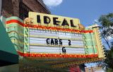 Ideal Theatre, Clare, MI - sign