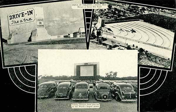 DRIVE-IN (EAST SIDE DRIVE-IN) Theatre; Harper Woods, Michigan.