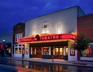 Franklin Theatre at night