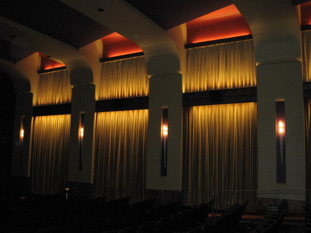 Side wall of Franklin Theatre auditorium 2013