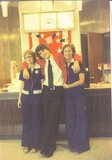 <p>CINDY,MIKE and BETTy Concession stand NATIONAL HILLS theatre. JULY 76..</p>