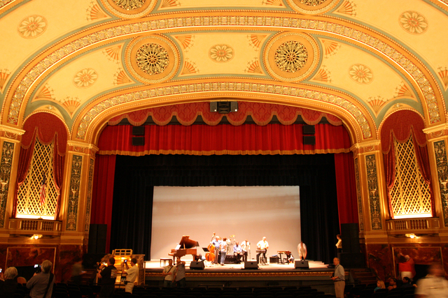 Temple Theatre, Saginaw, MI - auditorium from main floor