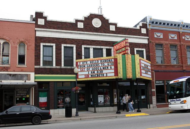 Riviera Theatre, Three Rivers, MI - exterior