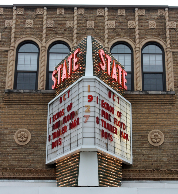 State Theatre, Kalamazoo, MI - sign