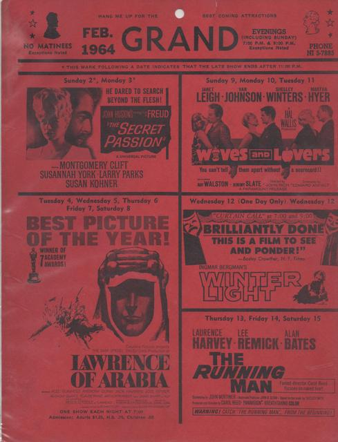 February 1964 Coming Attractions
