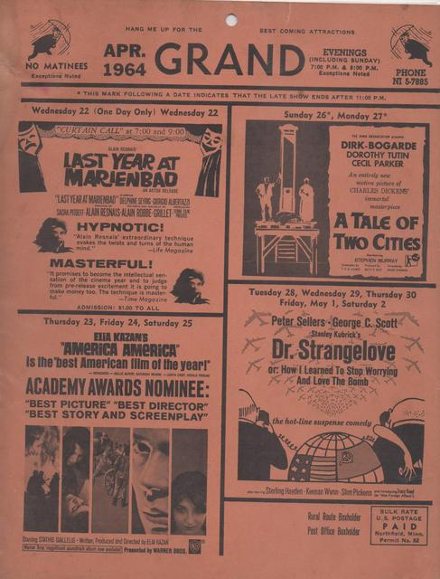 April 1964 Coming Attractions