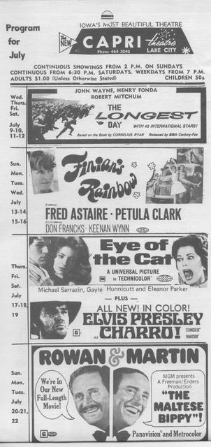 Program for July 1969