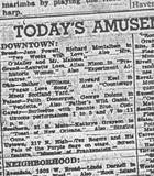Attractions on January 1, 1951 in the  Downtown theaters