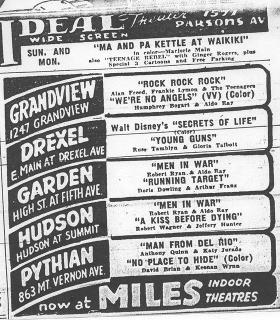 April 14, 1957 Showings