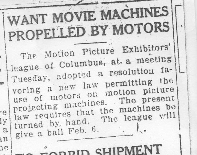"""""""Want Movie Machines Propelled By Motors"""""""