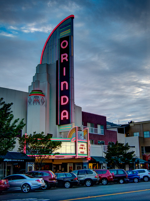 Orinda Theater at Sunset