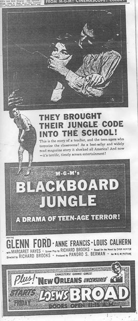 """The Blackboard Jungle"""