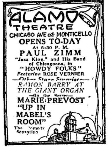 ALAMO Theatre; Chicago, Illinois.