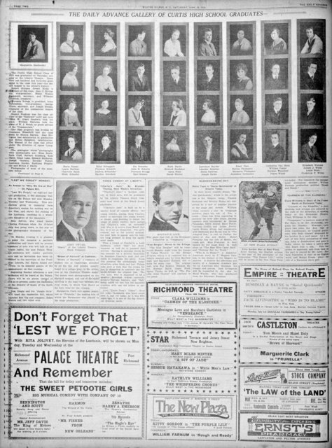 Theater ads - June 29, 1918