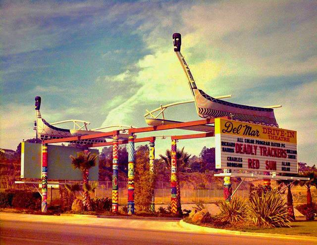 Del Mar Drive In Entrance c. 1973