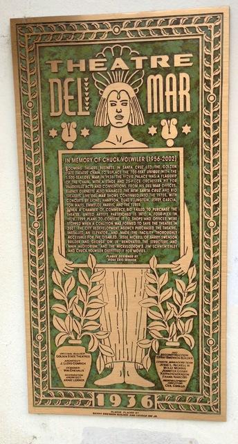 Del Mar plaque