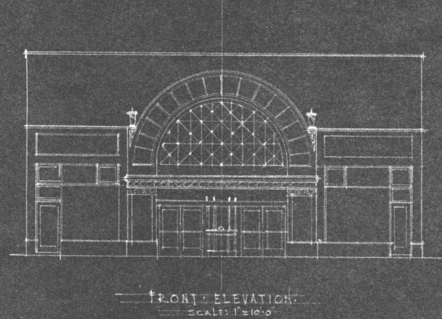 Drawing of Theatre Addition