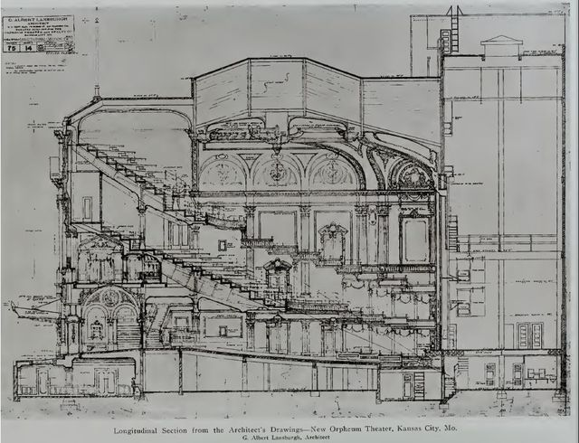 Architectural drawing of the Orpheum