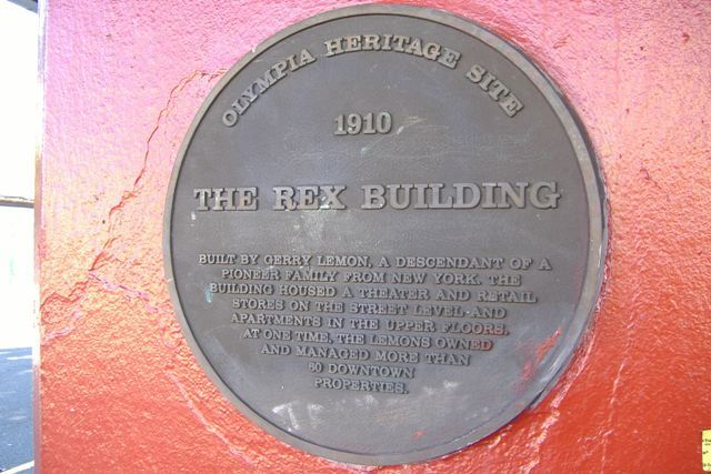 Rex theater sign