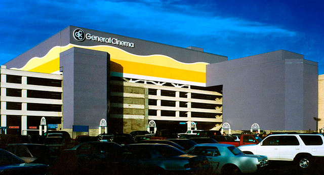 A view of General Cinema South Gallery Galleria from the parking lot.