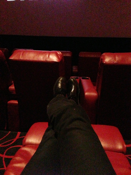 Reclining theatre seats