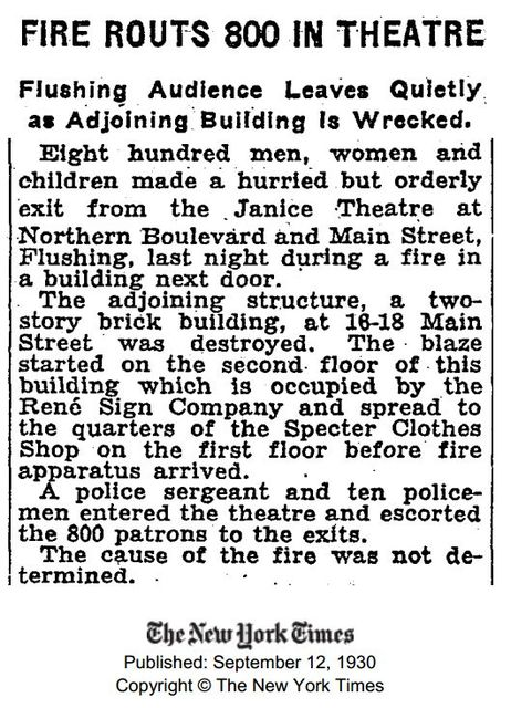 Article about the Janice Theater