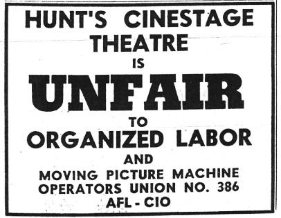 Cinestage Union Problems