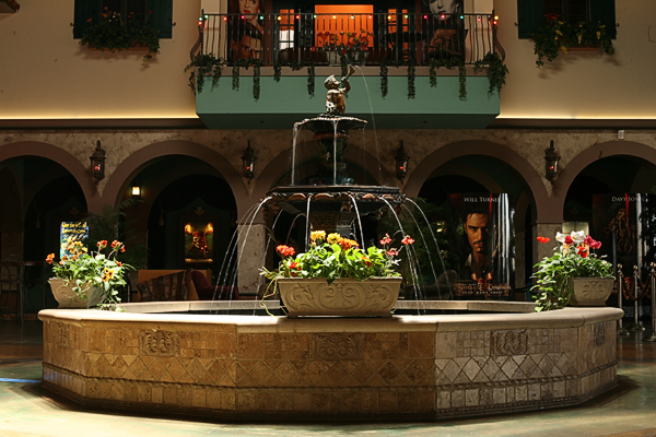 Paradiso lobby, fountain and east wall