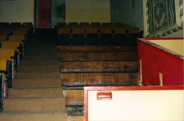 Missing Seats and Ramp to the Projection Room