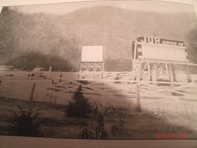 THE JUR DRIVE-IN LOCATED JUST OUTSIDE OF SYLVESTER, WV.