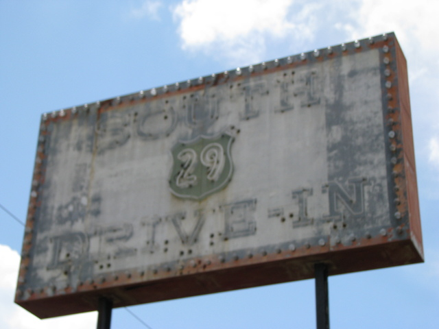 South 29 Drive-In theater sign