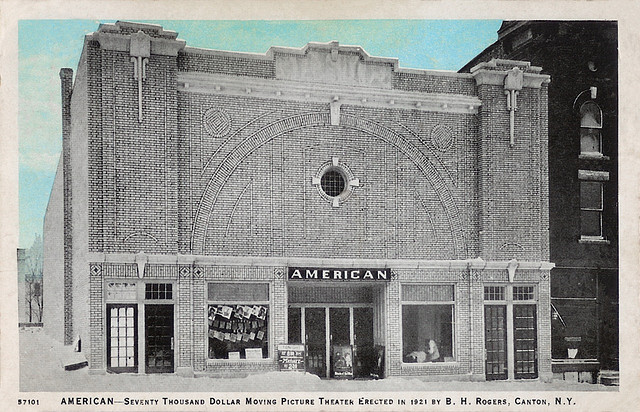 AMERICAN Theatre; Canton, New York.