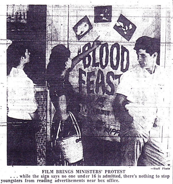 "Church Protests ""Blood Feast"" at Florida Theatre, Tampa FL"