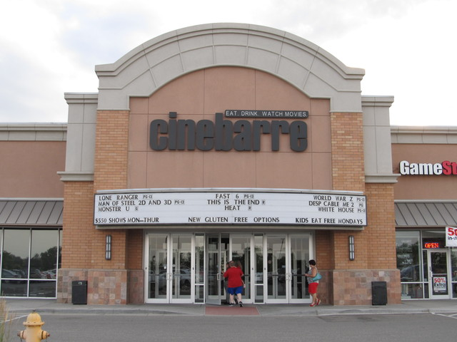 Cinebarre Thornton Town Center   Thornton CO  7-6-13