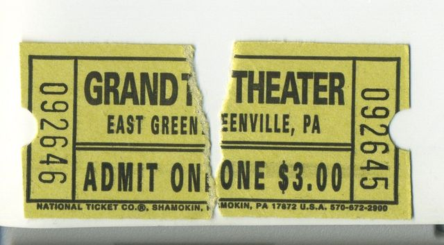 July 6, 2013 ticket stubs