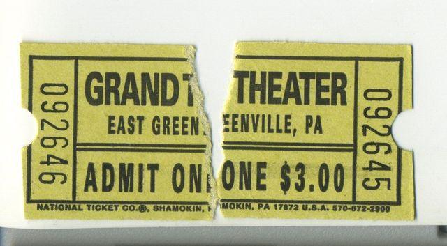 July 6, 2013 ticket stubs