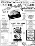 Cameo Theatre Opening Ad
