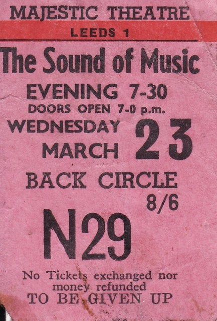 Ticket stub March 1966