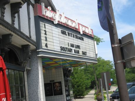 HIGHLAND PARK Theatre; Highland Park, Illinois.