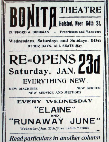 BONITA Theatre; Chicago, Illinois.
