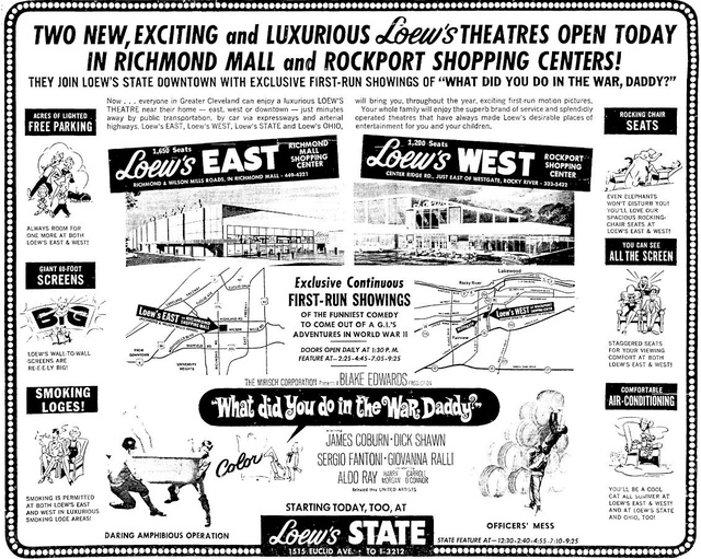 Loew's East - grand opening ad July 13, 1966