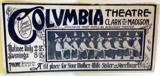 COLUMBIA (CLARK) Theatre; Chicago, Illinois.