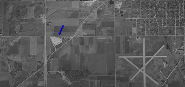Oshkosh 1951 Aerial map