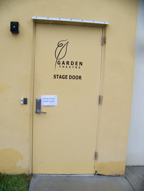 Stage door of Garden Theatre