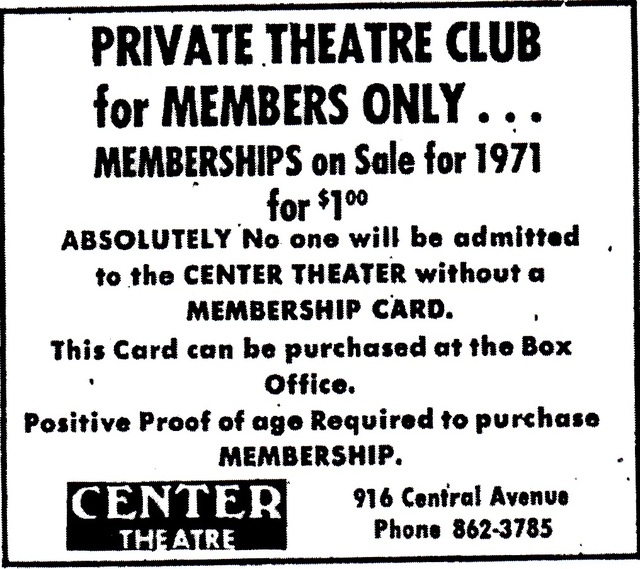 Center Theater's Adult Membership Club, St. Petersburg, FL