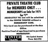 Center Theater's Adult Membership Club, St. Petersburg, FL