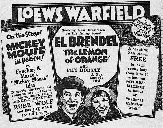 Loew's Warfield Theatre 1931